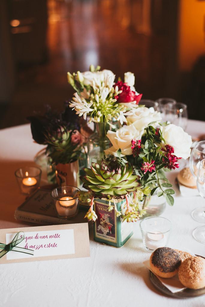 addobbi floreali matrimonio tavola