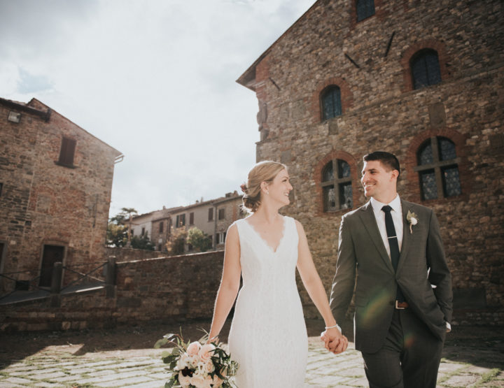 Ally & Ben //Wedding destination in Tuscany, Lucignano//