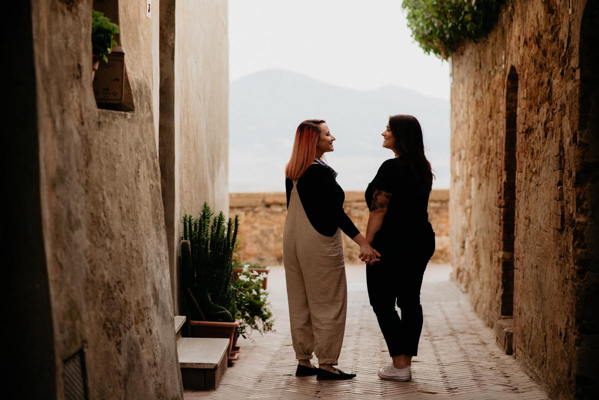 same sex elopment engagement pienza tuscany