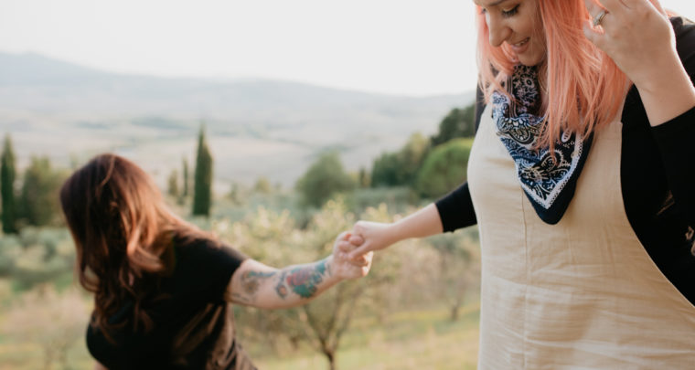 Same-sex engagement //Pienza, Tuscany//
